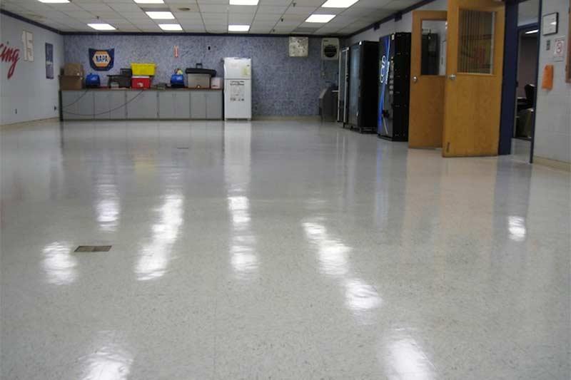 VCT Floor Waxing